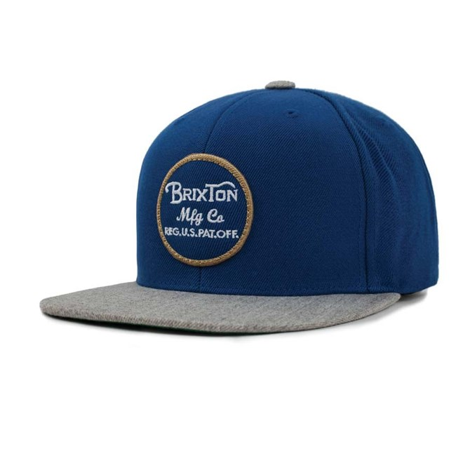kšiltovka BRIXTON - Wheeler Snapback Dark Blue/Light Heather Grey (DBLHG)