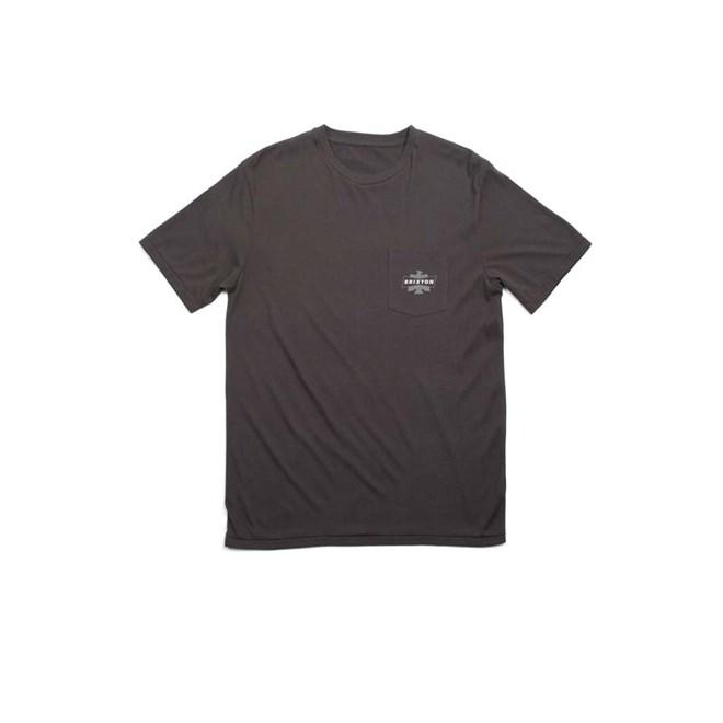 triko BRIXTON - Spencer S/S Pkt Washed Black (WABLK)