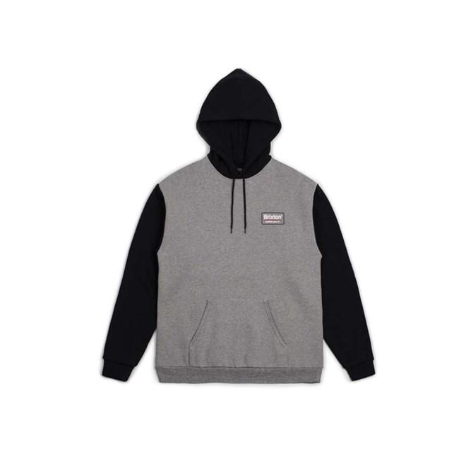 Sweatshirt BRIXTON - Palmer Intl Hood Heather Grey Black (HTGBK ... 313e76f5b13