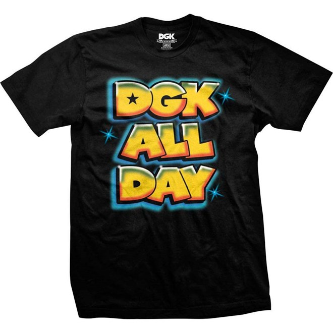 Tshirt Dgk Airbrush All Day Tee Black Black Snowbitchde