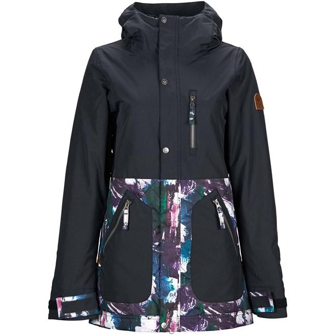 bunda NIKITA - Sycamore Jacket Black- Paint Palette (BLK)