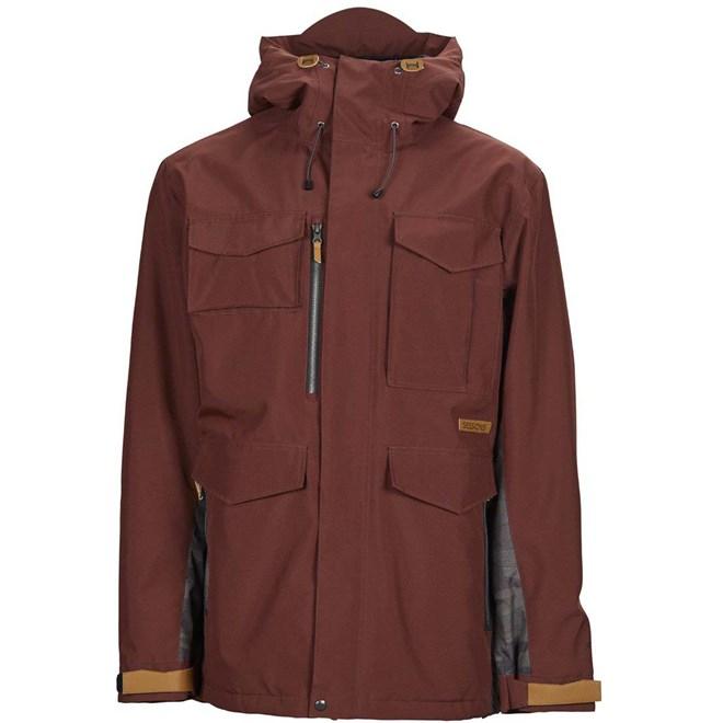 bunda SESSIONS - Ransack Insulated Jacket Maroon-Dark Camo (MAR)