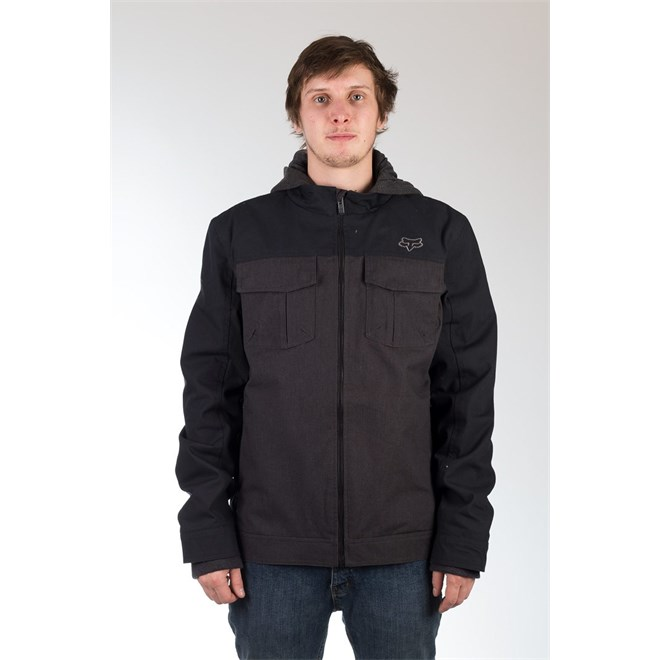 bunda FOX - Straightaway Jacket Heather Black (243)