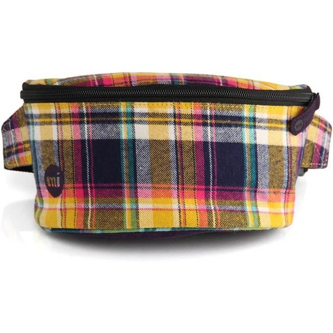 ledvinka MI-PAC - Bum Bag Tartan Navy (003)