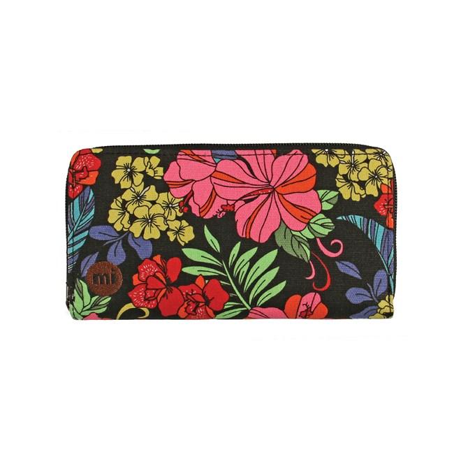 peněženka MI-PAC - Zip Purse Tropical Floral Neon Black (009)