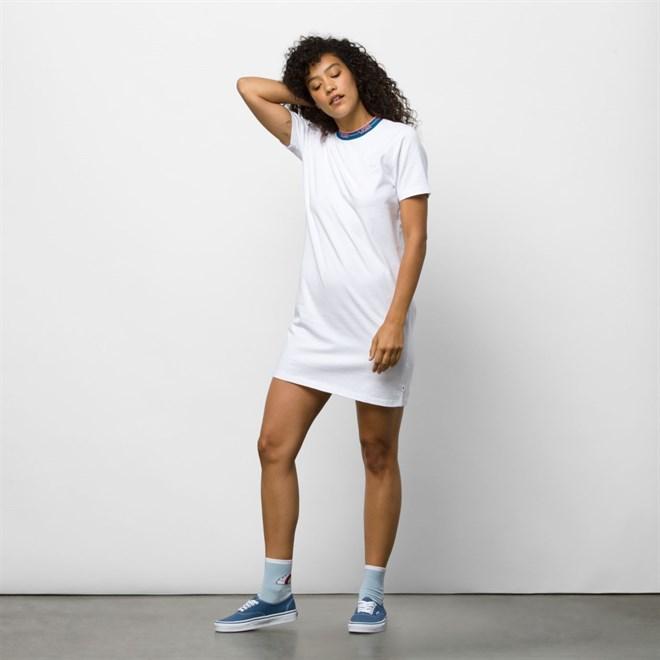 šaty VANS - Funnier Dress White (WHT)