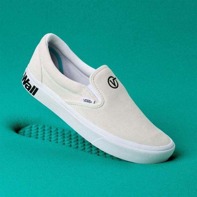 topánky VANS - Comfycush Slip-On (Distort) Blanc/Black (VX7)