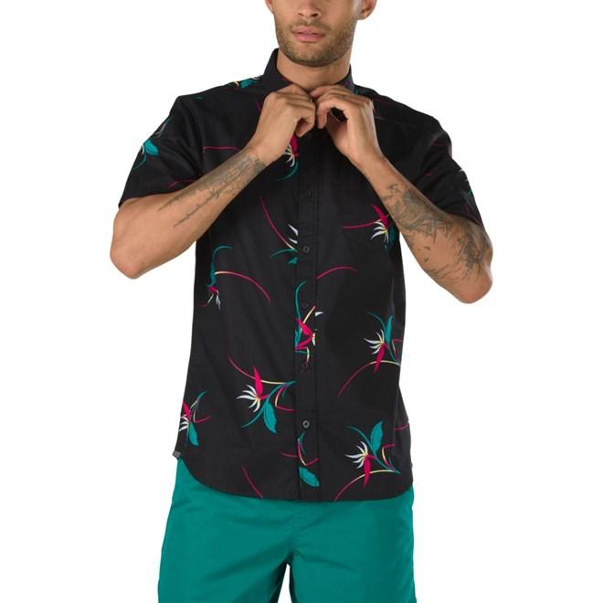 košile VANS - Shade Ss Black Open Shade Floral (TD0)
