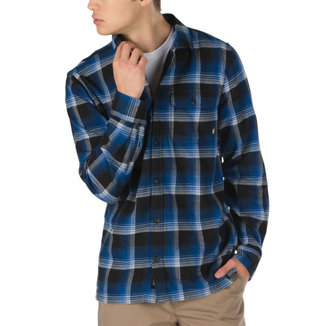 košile VANS - Vans X Anti Hero Wired Flannel True Blue/Black (TBB)