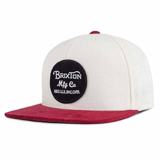 kšiltovka BRIXTON - Wheeler White/Burgundy (WHBUR)