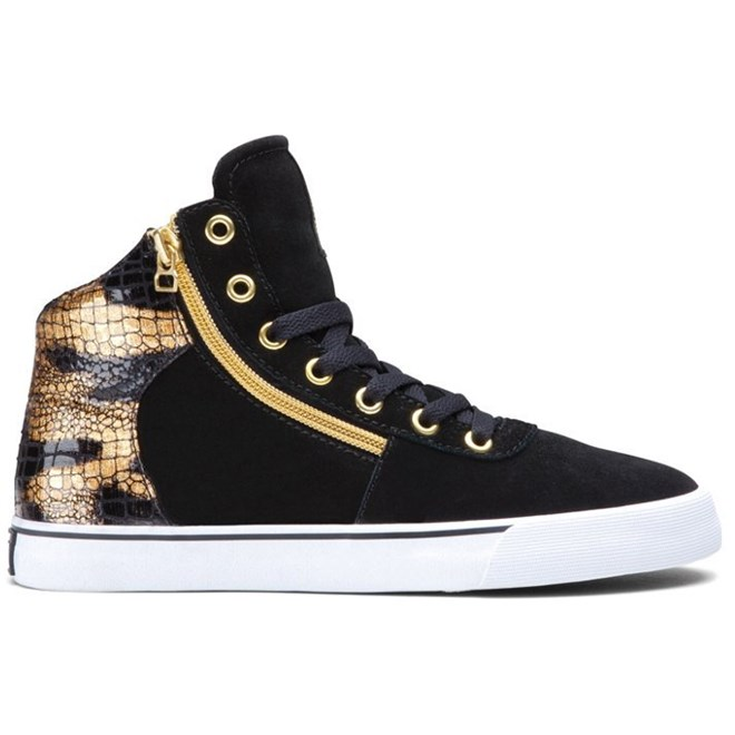 boty SUPRA - Women-Cuttler Black/Gold (BKG)