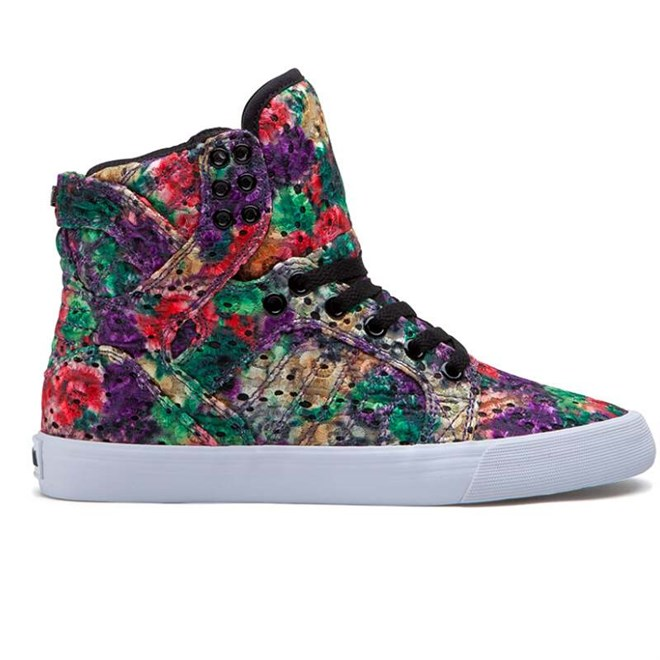 boty SUPRA - Skytop High Floral-White (FLO)