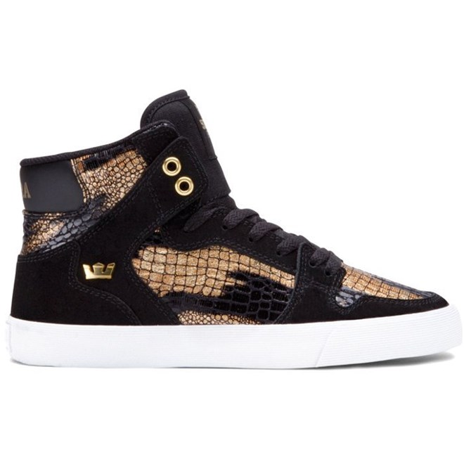 boty SUPRA - Women-Vaider Black/Gold (BKG)