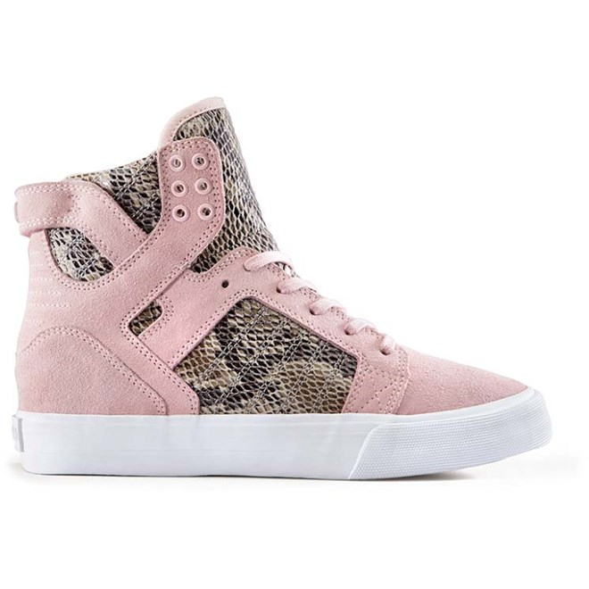 boty SUPRA - Womens Skytop Wedge Pink/Brown-White (PBR)