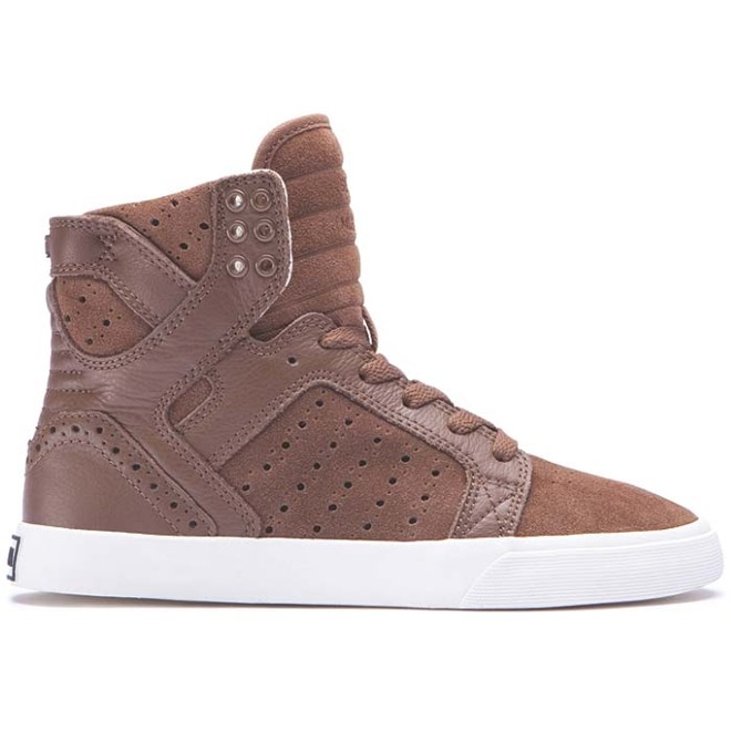 boty SUPRA - Womens Skytop Brown/Brogue-Bone (BRB)