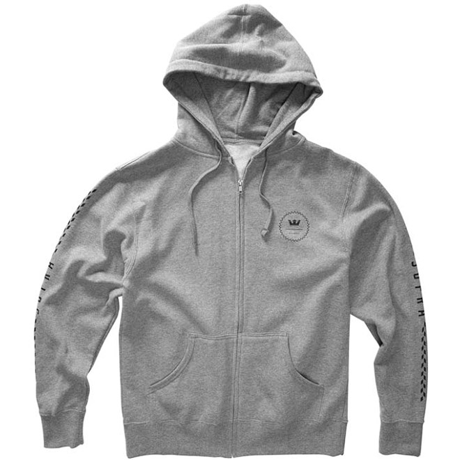 mikina SUPRA - Wreath Zip Grey Heather (GHT)