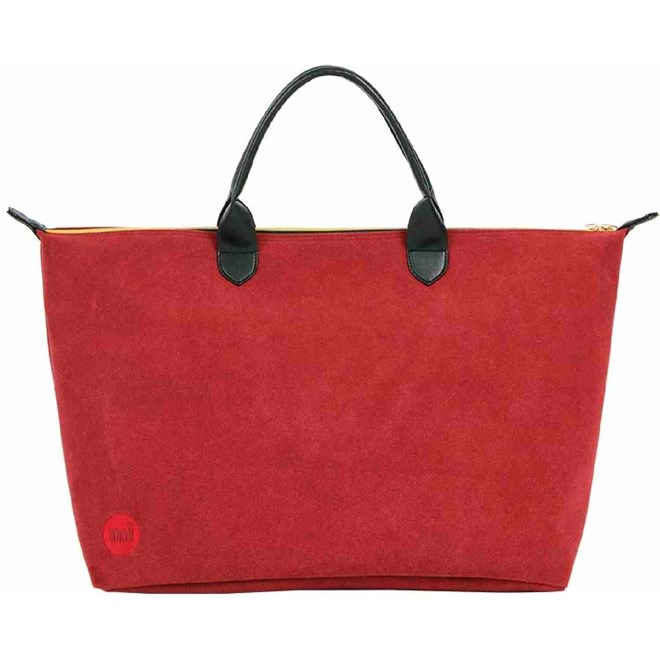 cestovní taška MI-PAC - Weekender Suede Burgundy (004)