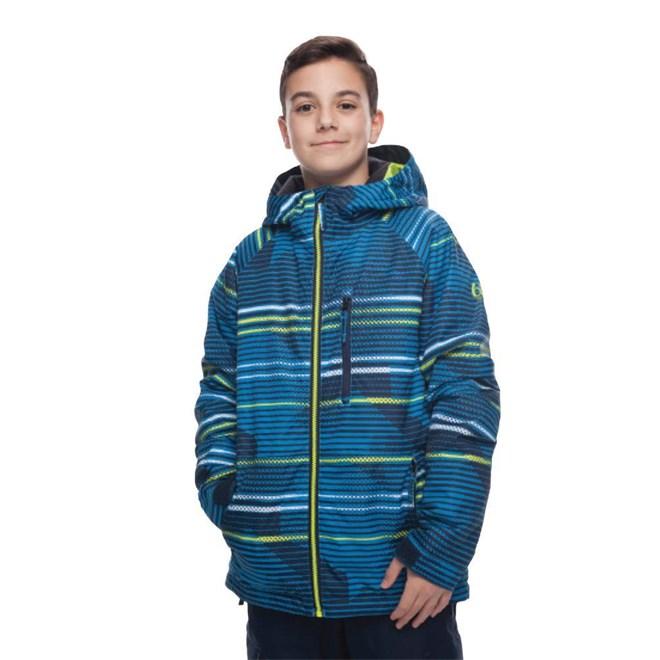 bunda 686 - Boys Jinx Insl Jkt Bluebird Stripes (STRP)
