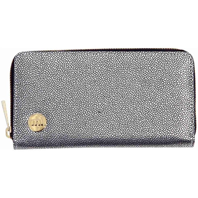 peněženka MI-PAC - Zip Purse Pebbled Silver/Black (019)