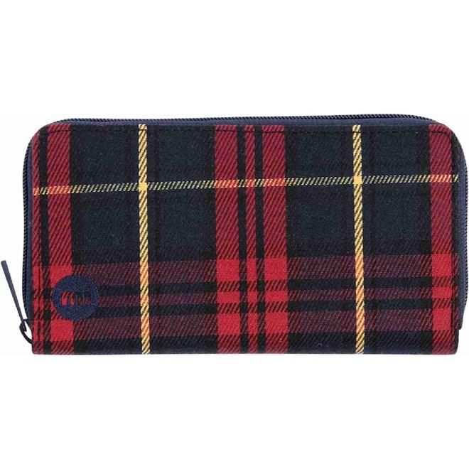 peněženka MI-PAC - Zip Purse Tartan Burgundy (023)