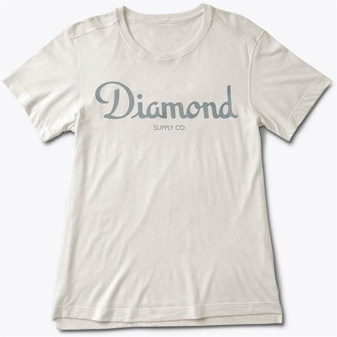 triko DIAMOND - Champagne Script Tee Cream (CREAM)