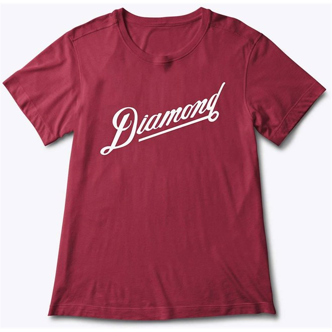 triko DIAMOND - Diamond Athletic Tee Burgundy (BUR)