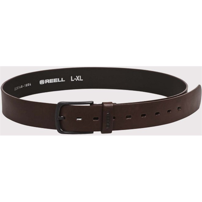 pásek REELL - All Black Buckle Belt Brown (BROWN)