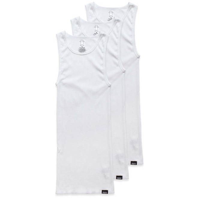 tílko GRIZZLY - Tagless A-Style Wht (WHT)