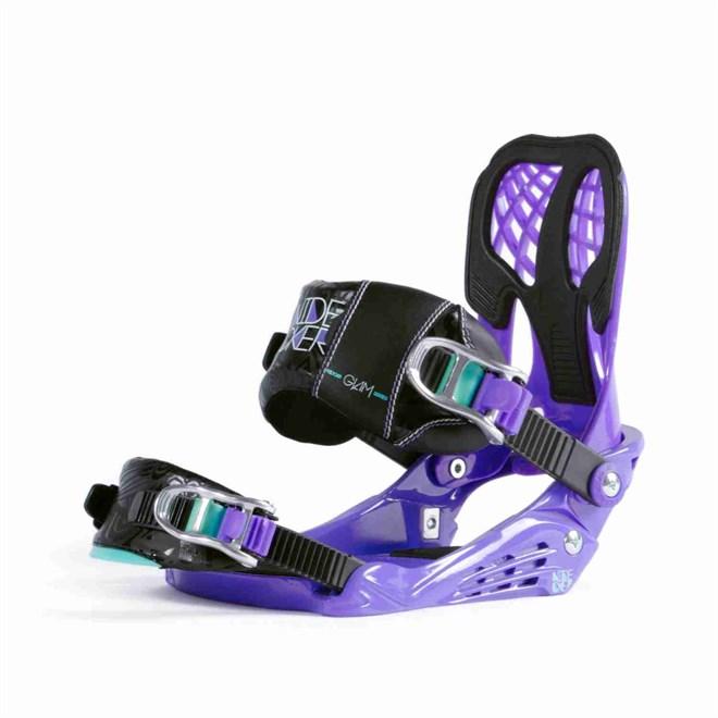 vázání NIDECKER - Bindings Glam Purple Purple (PURPLE)