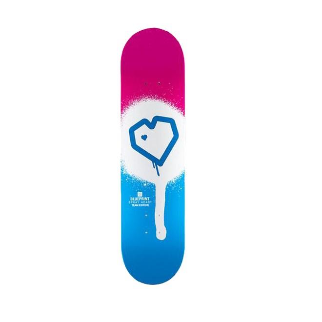 deska BLUE PRINT - Spray Heart Blue/Pink 8 (BLUPIN)