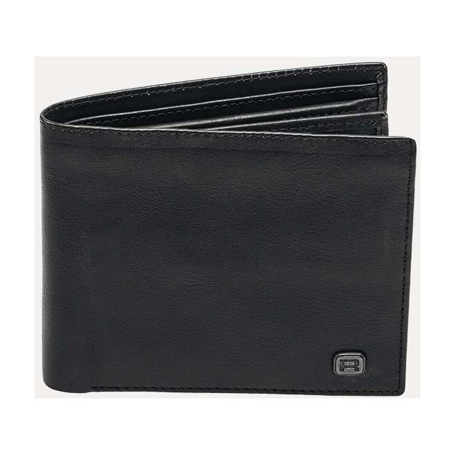 Wallet REELL - Button Leather Black Black (Black )