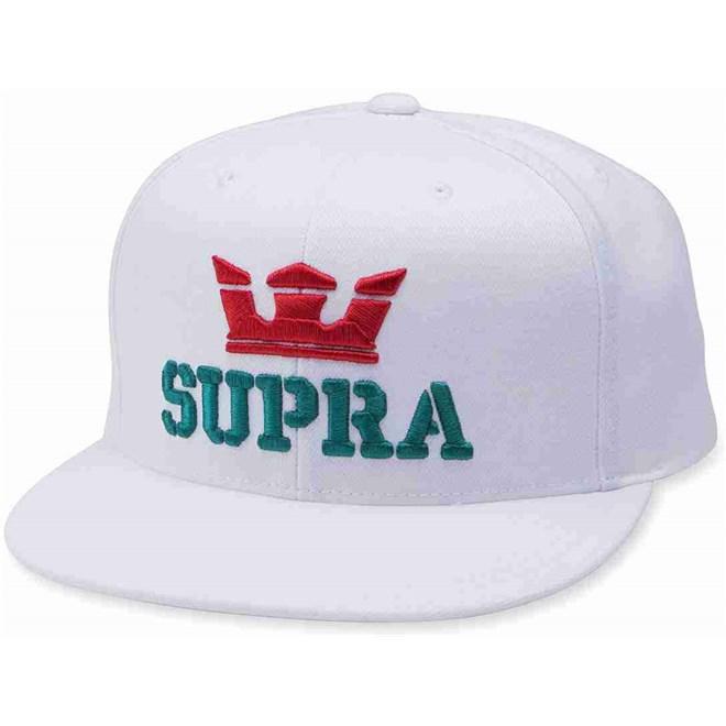 kšiltovka SUPRA - Above Snap Back Hat White-Red-Tea (127)