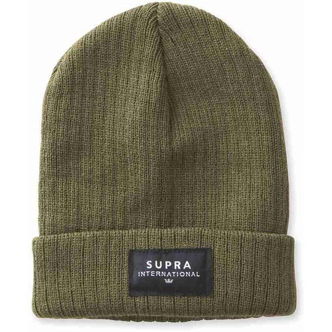 čiapka SUPRA - Icon Intl Beanie Olive-Blk-Wht (314)