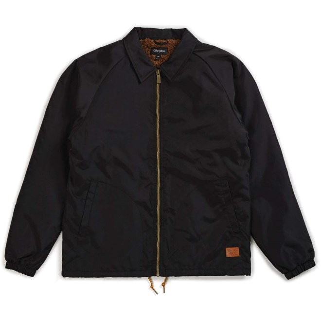 bunda BRIXTON - Claxton Collar Sherpa Jkt Black (BLACK)
