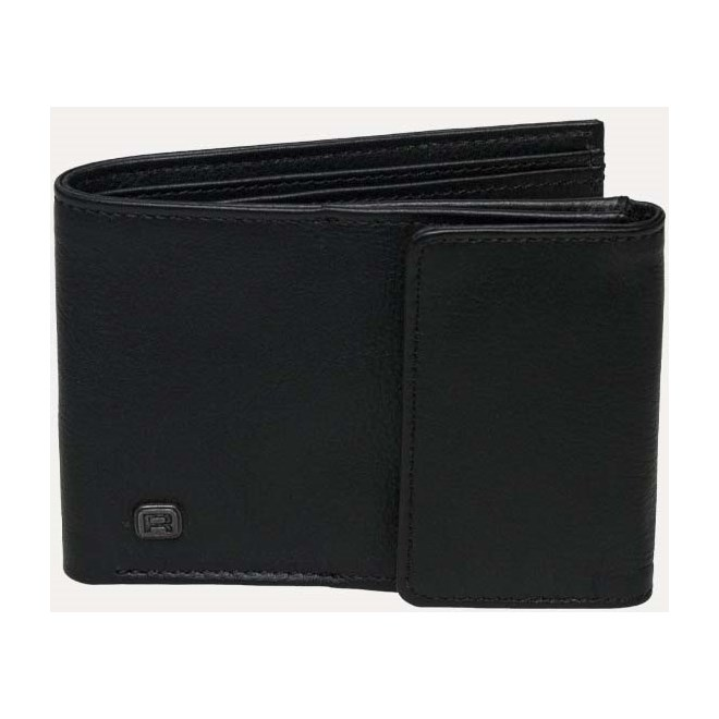 peněženka REELL - Compact Leather Black Black (Black )
