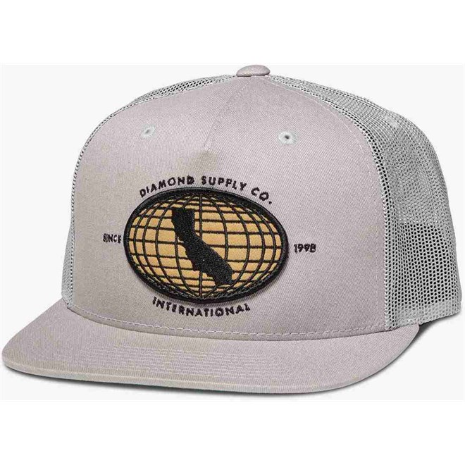 kšiltovka DIAMOND - International Snapback Grey (GRY)