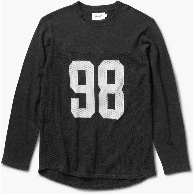 mikina DIAMOND - Jackson Football Top Black (BLK)