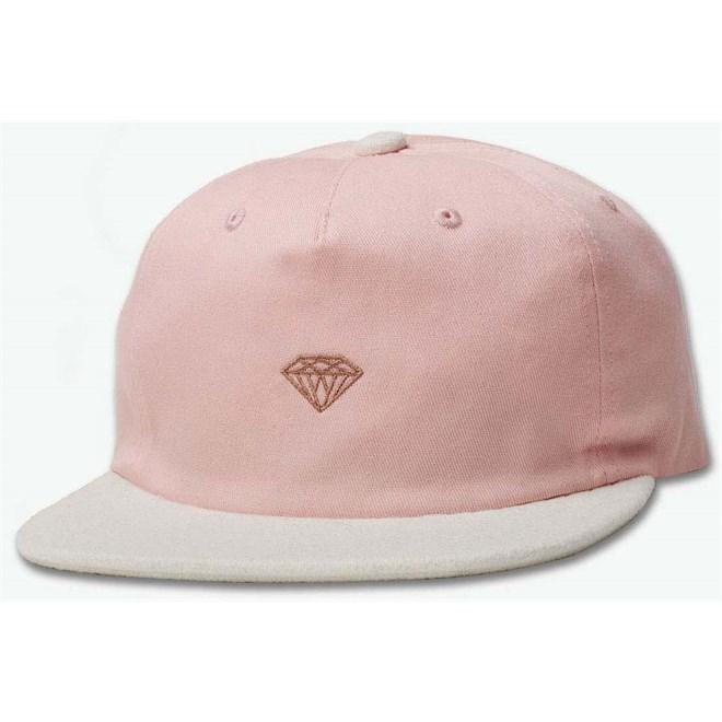 czapka z daszkiem DIAMOND - Micro 2Tone Brilliant Snapback Pink (PNK)
