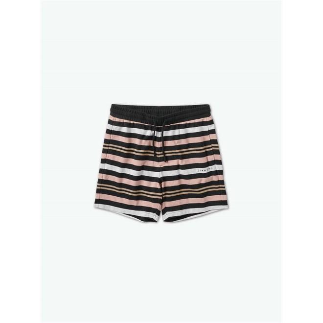 kraťasy DIAMOND - Marquise Striped Shorts Black (BLK)