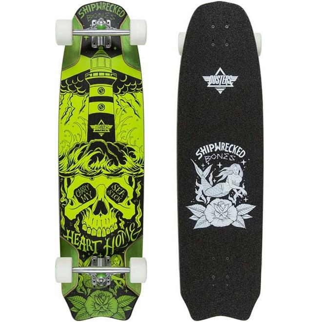 """longboard DUSTERS - Bones Longboard 37.9"""" Green (GRN)"""