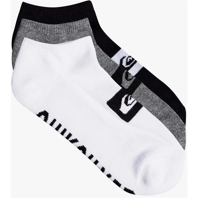 ponožky QUIKSILVER - 3 Ankle Pack M Sock Ast (AST)
