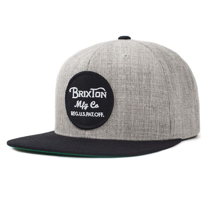 kšiltovka BRIXTON - Wheeler Light Heather Grey/Black (0371)