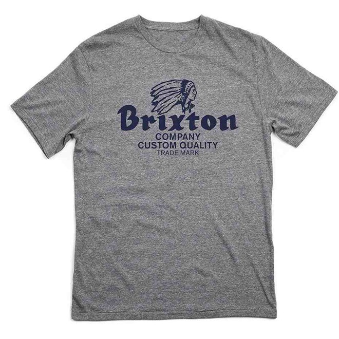 triko BRIXTON - Tanka Heather Grey/Navy  (0309)