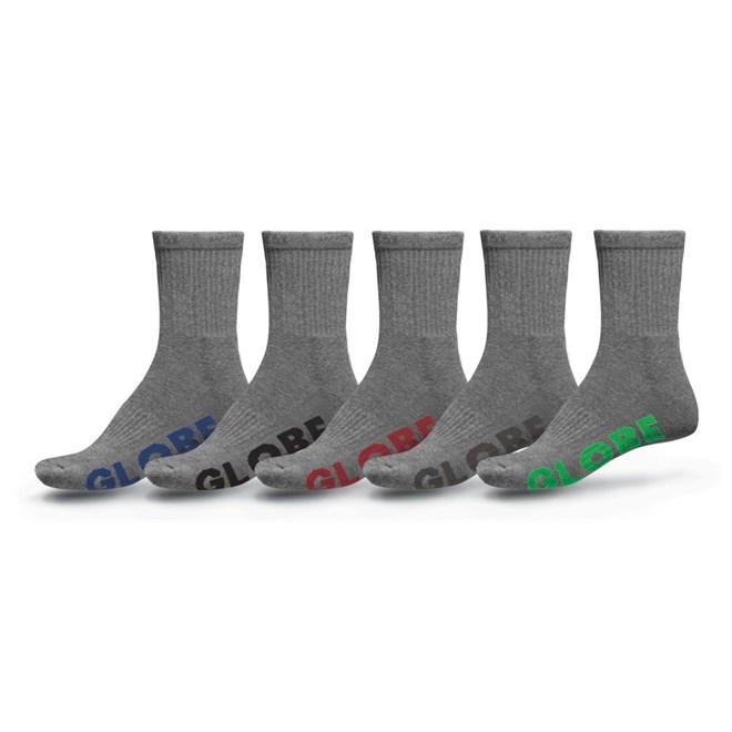 ponožky GLOBE - Stealth Crew Sock 5 Pack Grey (GRY)
