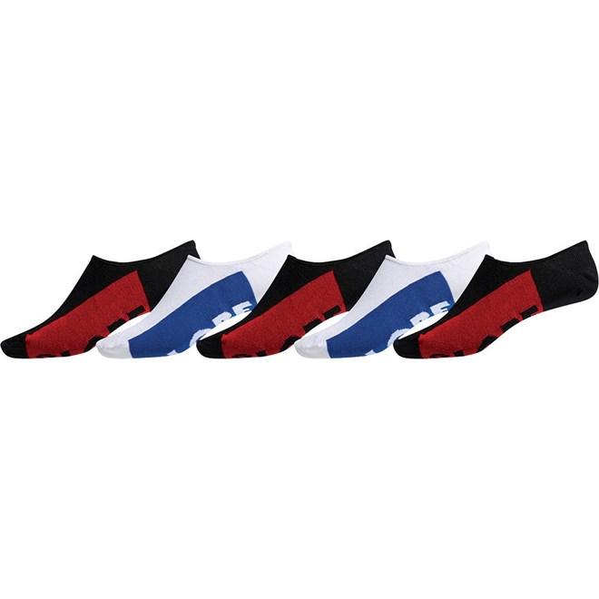 ponožky GLOBE - Invisible Sock 5 Pack Black/White (BLK-WHT)