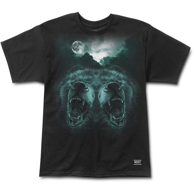 triko GRIZZLY - Roar At The Moon Blk (BLK)