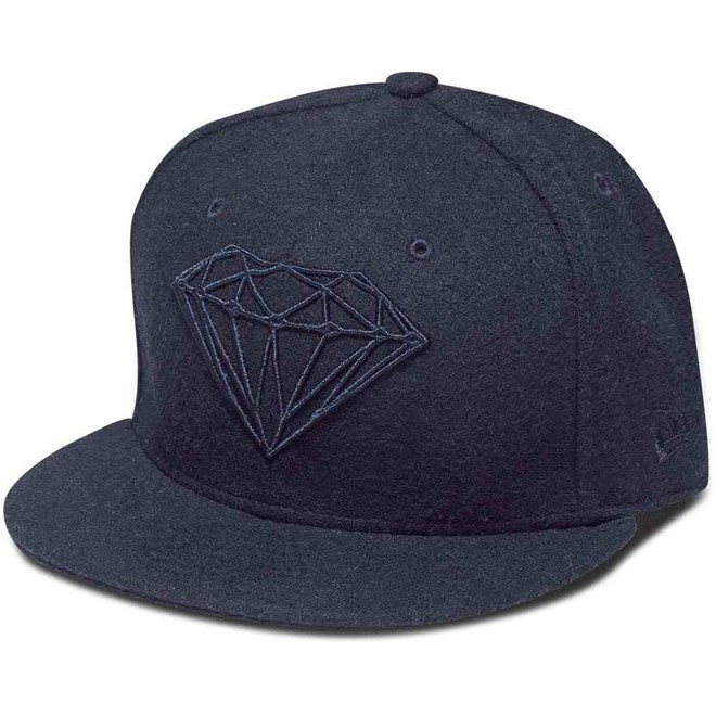 kšiltovka DIAMOND - Brilliant Fitted Navy (NVY)