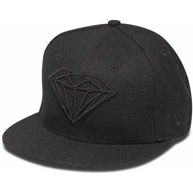 kšiltovka DIAMOND - Brilliant Fitted Black Blk (BLK)