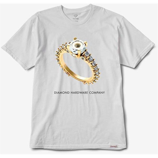 triko DIAMOND - Hardware Ring Tee White (WHT)