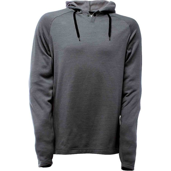 mikina BONFIRE - Infra Wool Pullover Hoody Heathered Grey (HGR)